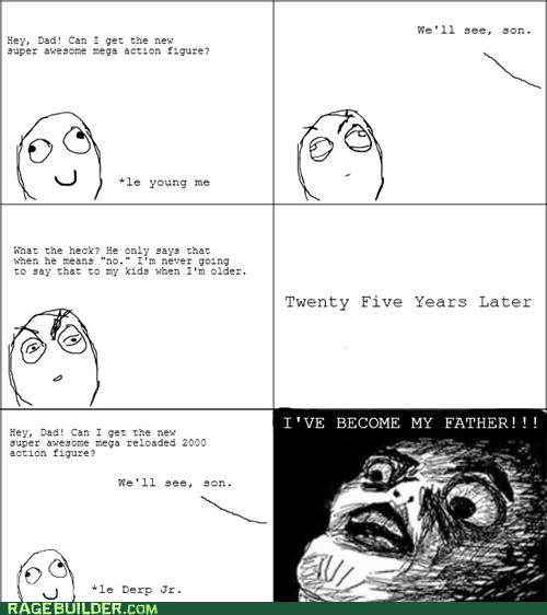 Father growing up old Rage Comics - 4878177536