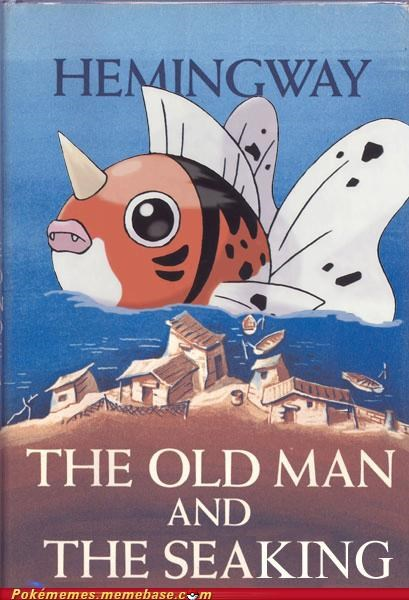 book,hemingway,Pokébooks,seaking,the old man