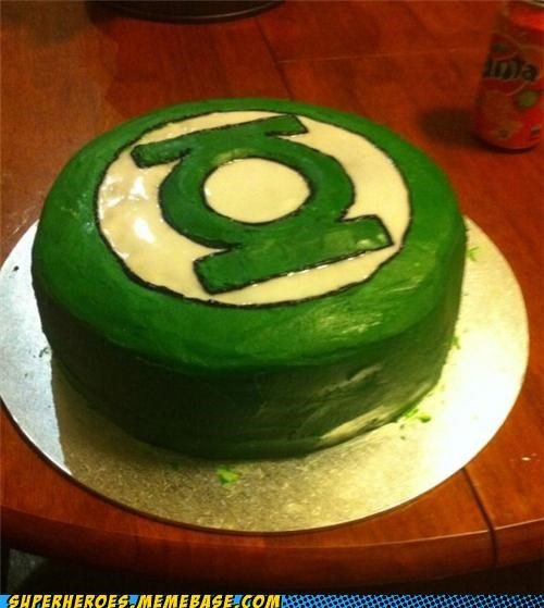 cake delicious food Green lantern Random Heroics