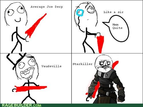 Rage Comics star wars starkiller umbrella video games - 4878630912