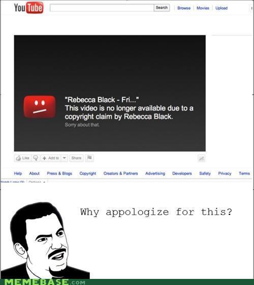 FRIDAY praise Rebecca Black sorry youtube - 4878688256