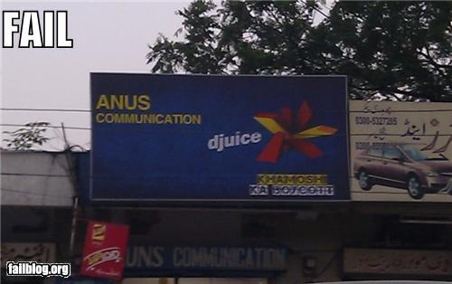advertising billboard butt company name failboat gross innuendo - 4878737920