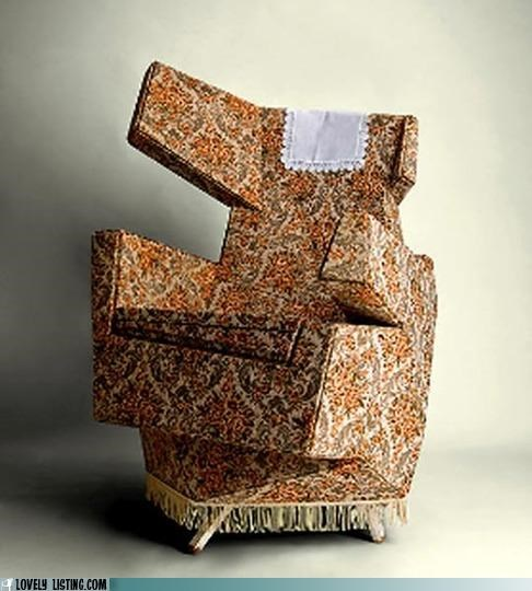 chair,floral,wacky,wing chair