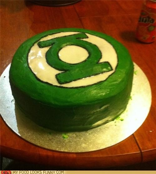 cake,comic book,frosting,Green lantern,Movie