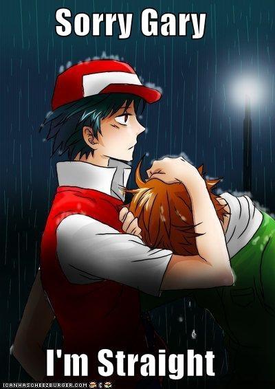 ash,gary,gay joke,hug,rain