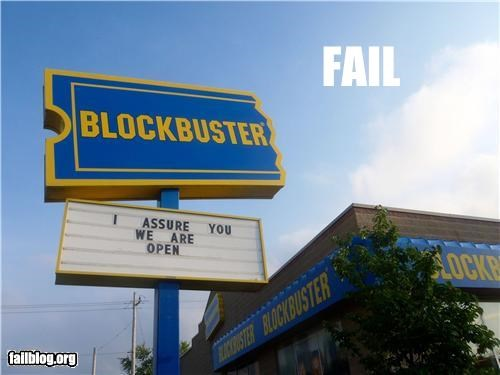 blockbuster economy failboat g rated movies Professional At Work signs - 4878991104