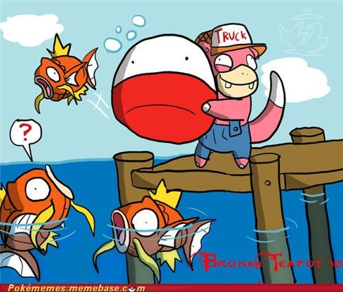 fishing,magikarp,slowpoke,voltorb