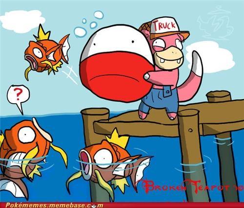 fishing magikarp slowpoke voltorb - 4879023616