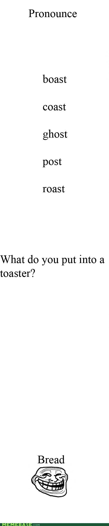 Pronunciation,quiz,toast