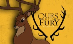 "disney characters as game of thrones house sigils | bambi's dad as the baratheon's stag ""ours is the fury"""