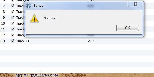 error iTunes software - 4879458816