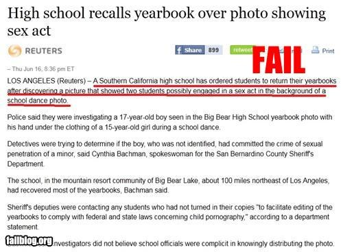 failboat high school yearbook innuendo news Probably bad News - 4879553024