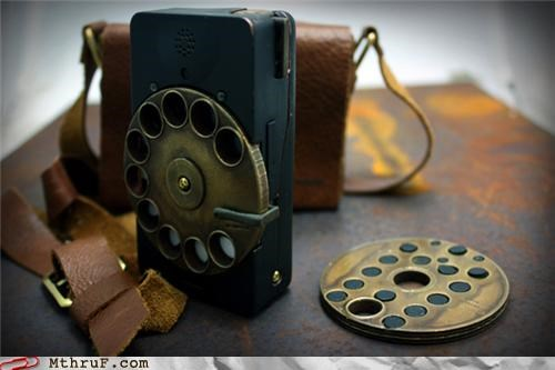 office swag phone smartphone Steampunk