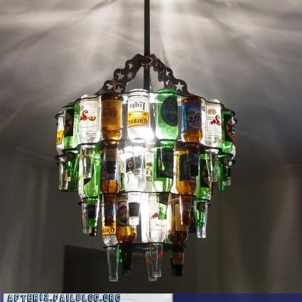 beer,bottles,chandelier