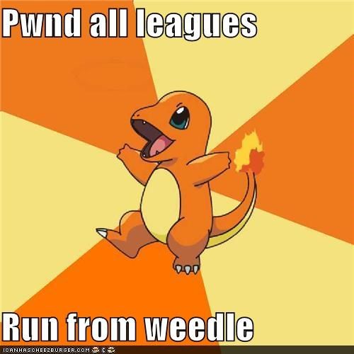 Battle,Champion,charmander,league,weedle