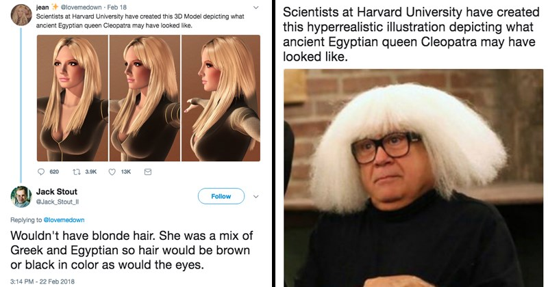 Funny trolling Twitter thread about Cleopatra