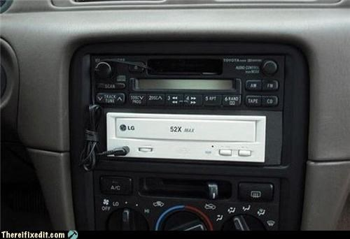 CD player dashboard dual use stereo