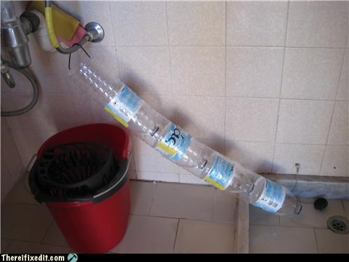 dual use plastic bottle plumbing shower
