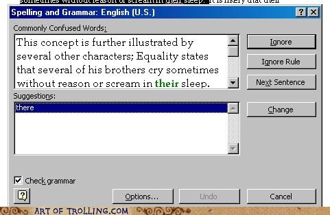 grammar spell check their there theyre - 4881784576