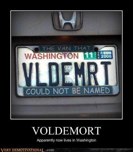 hilarious license plate van voldemort