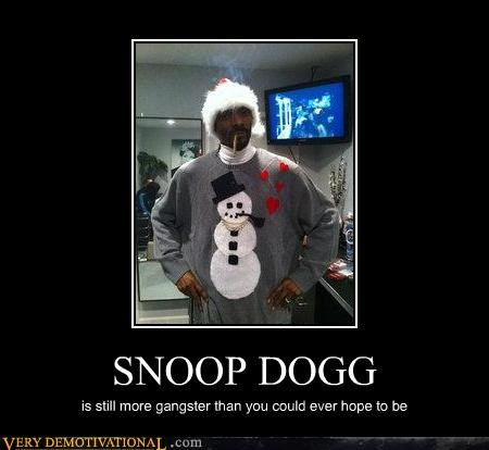 gangsta hilarious snoop dogg snowman wtf - 4882331904