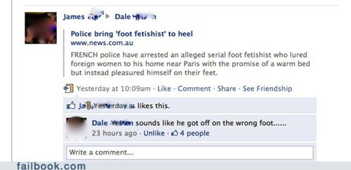 feet wrong foot puns failbook g rated - 4883037696