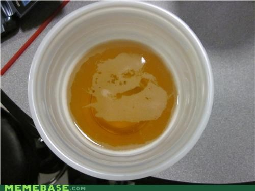 beer cup face foam forever alone IRL - 4884684288