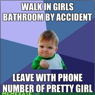 bathroom,girls,numbers,pretty,success kid