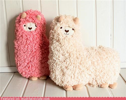 alpaca Fluffy fuzzy hug Pillow soft - 4884814336