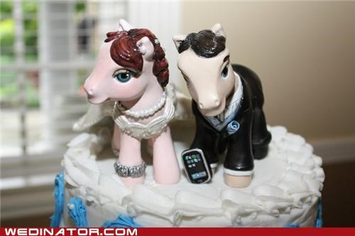 cake toppers funny wedding photos my little pony wedding cake - 4885089536