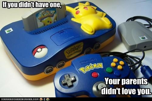 birthday,gifts,nintendo 64,pikachu