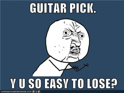 fingernails guitar instruments lose pick Y U No Guy - 4885341696