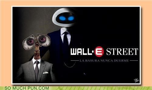 combination juxtaposition mashup Movie movies Wall Street wall.e - 4885502208