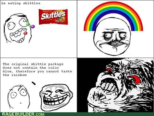 Rage Comics,rainbow,skittles,troll