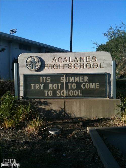 marquee school signs summertime - 4886076928