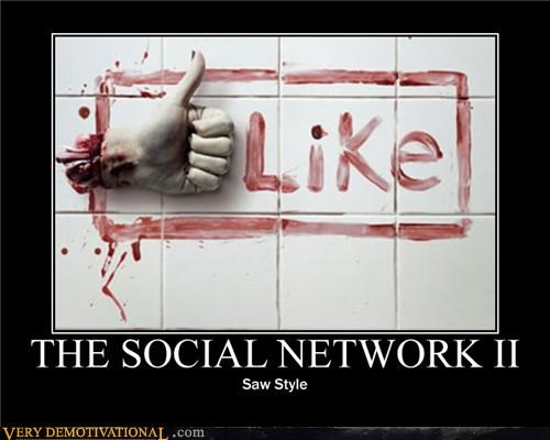 hilarious like saw severed hand social network - 4886266624