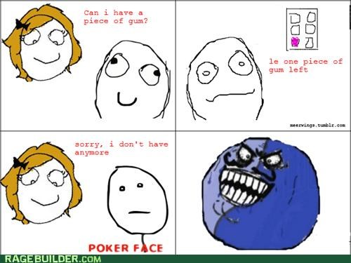 gum i lied Rage Comics rude sharing
