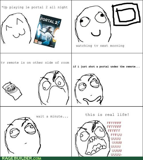 portal 2 Rage Comics remote video games - 4886553600