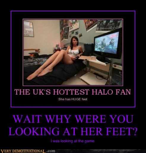 feet halo hilarious UK video games wtf