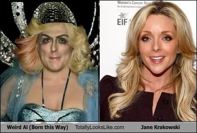 actresses jane krakowski musicians perform this way Weird Al Yankovic
