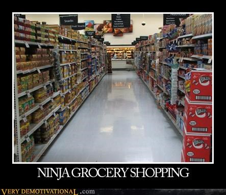 grocery store,hilarious,ninjas,shopping