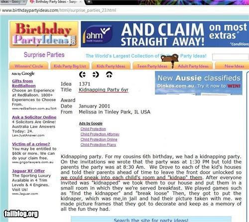 birthday party failboat inappropriate innuendo pedobear website - 4887546624