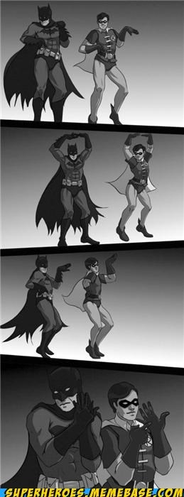 Awesome Art batman dancing robin sexy