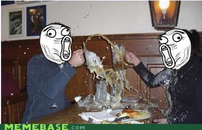 beer,faces,IRL,lol,Rage Comics,spill
