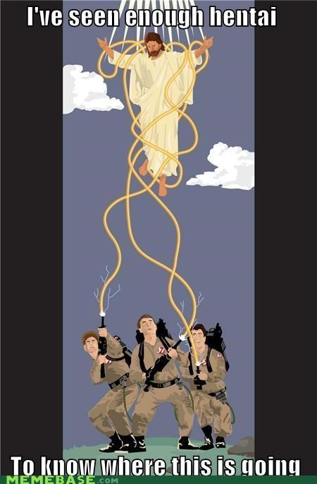 Ghostbusters,ive-seen-enough-japanese-entertainment,James Lentz,jesus,LOL Jesus,tentacles,where