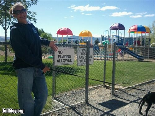 failboat,g rated,irony,kids,oddly specific,playground,signs