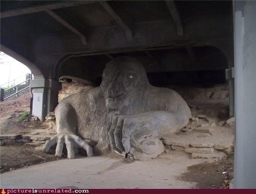 art bridge seattle troll wtf - 4888128512