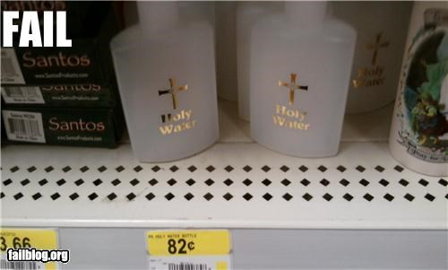 failboat,g rated,holy water,religion,wal mart