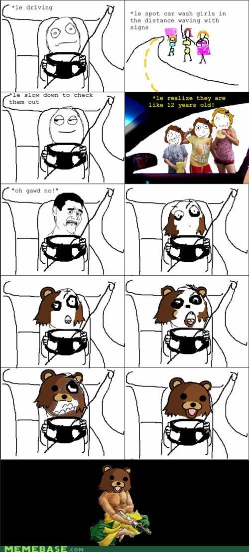 driving pedobear Rage Comics seppuku - 4888150016