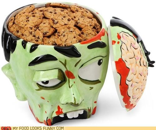 brains cookie jar cookies head zombie - 4888257536